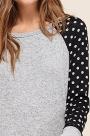 LuLu's Boutique Polka-Dot Sleeve Top - Back cropped