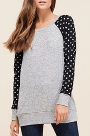 LuLu's Boutique Polka-Dot Sleeve Top - Front cropped