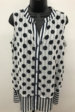Michael Tyler Collections Polka Dot Sleeveless Top - Product List Image