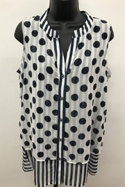 Michael Tyler Collections Polka Dot Sleeveless Top - Product Mini Image