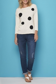 Cotton Country Polka Dot Sweater - Product Mini Image
