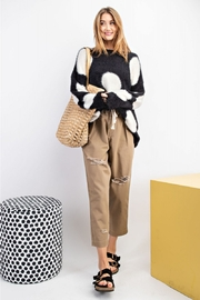 easel Polka Dot Sweater - Front full body