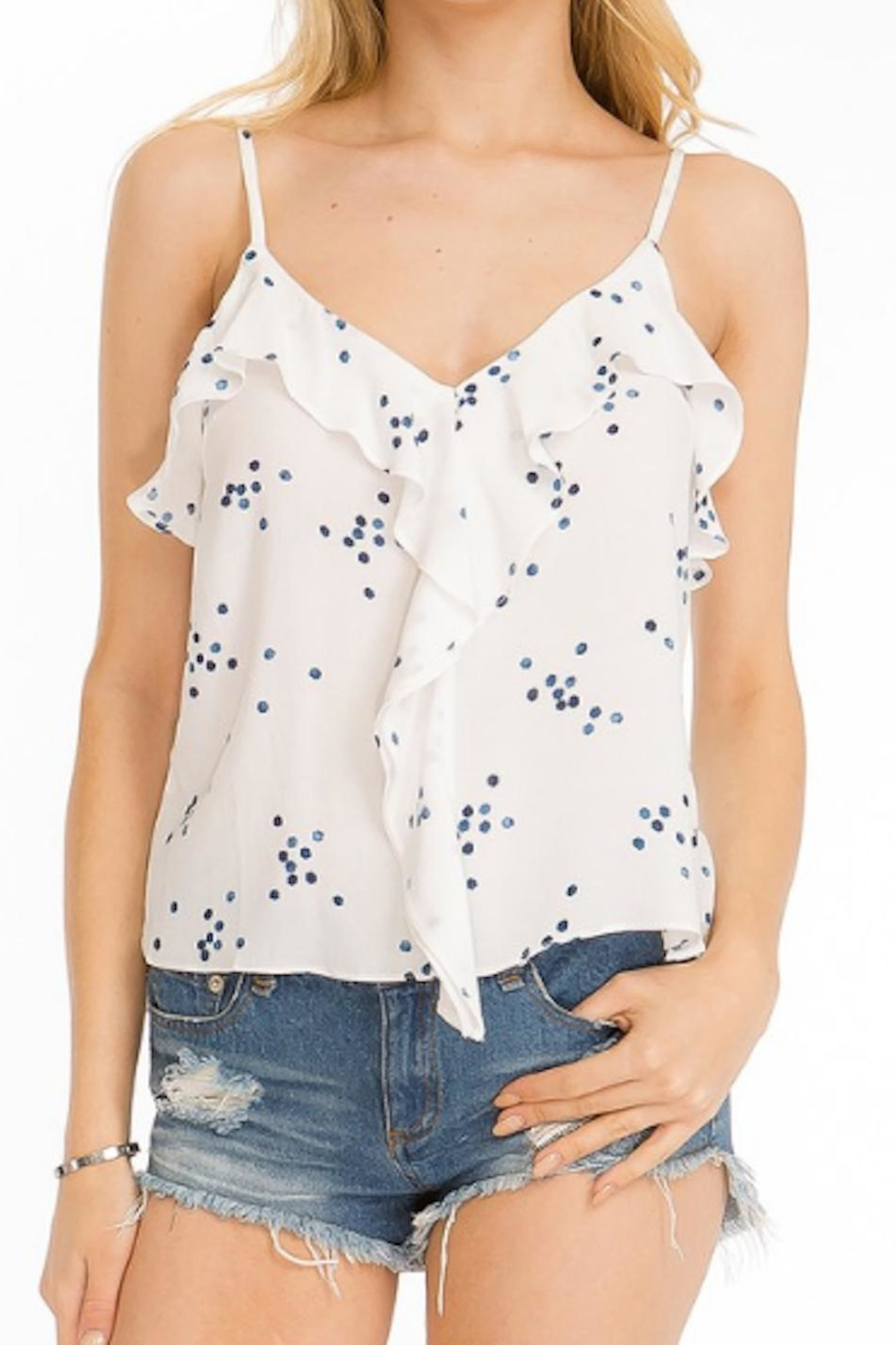 Olivaceous Polka Dot Tank - Front Cropped Image