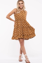 blu pepper  Polka Dot Tiered Dress - Front cropped