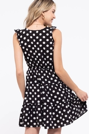 Day to Day Polka Dot Tiered Dress - Back cropped