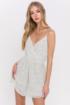 La Ven Polka Dot Tiered Romper - Product List Image