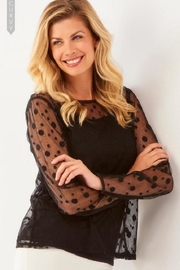 Charlie Paige Polka Dot Top - Front cropped