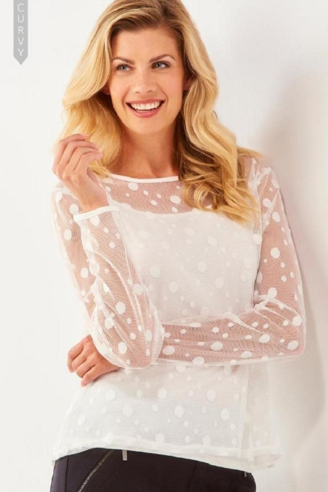 Charlie Paige Polka Dot Top - Front Cropped Image