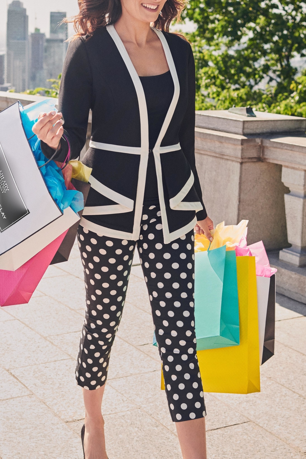 Katherine Barclay Polka Dot Trousers - Front Full Image
