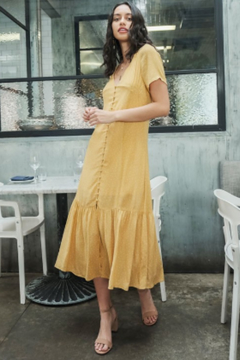fashion on earth Polka Dot V-Neck  Maxi Dress - Product List Image