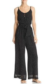 Red Haute Polka-Dot Wide-Leg Jumpsuit - Product Mini Image