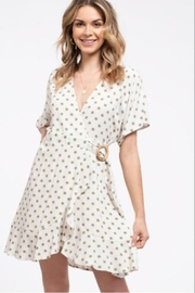 blue pepper  Polka Dot Wrap Dress - Front cropped