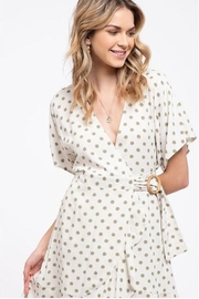 blue pepper  Polka Dot Wrap Dress - Back cropped