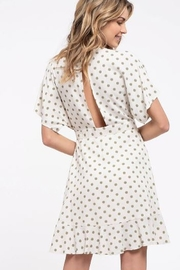blue pepper  Polka Dot Wrap Dress - Front full body