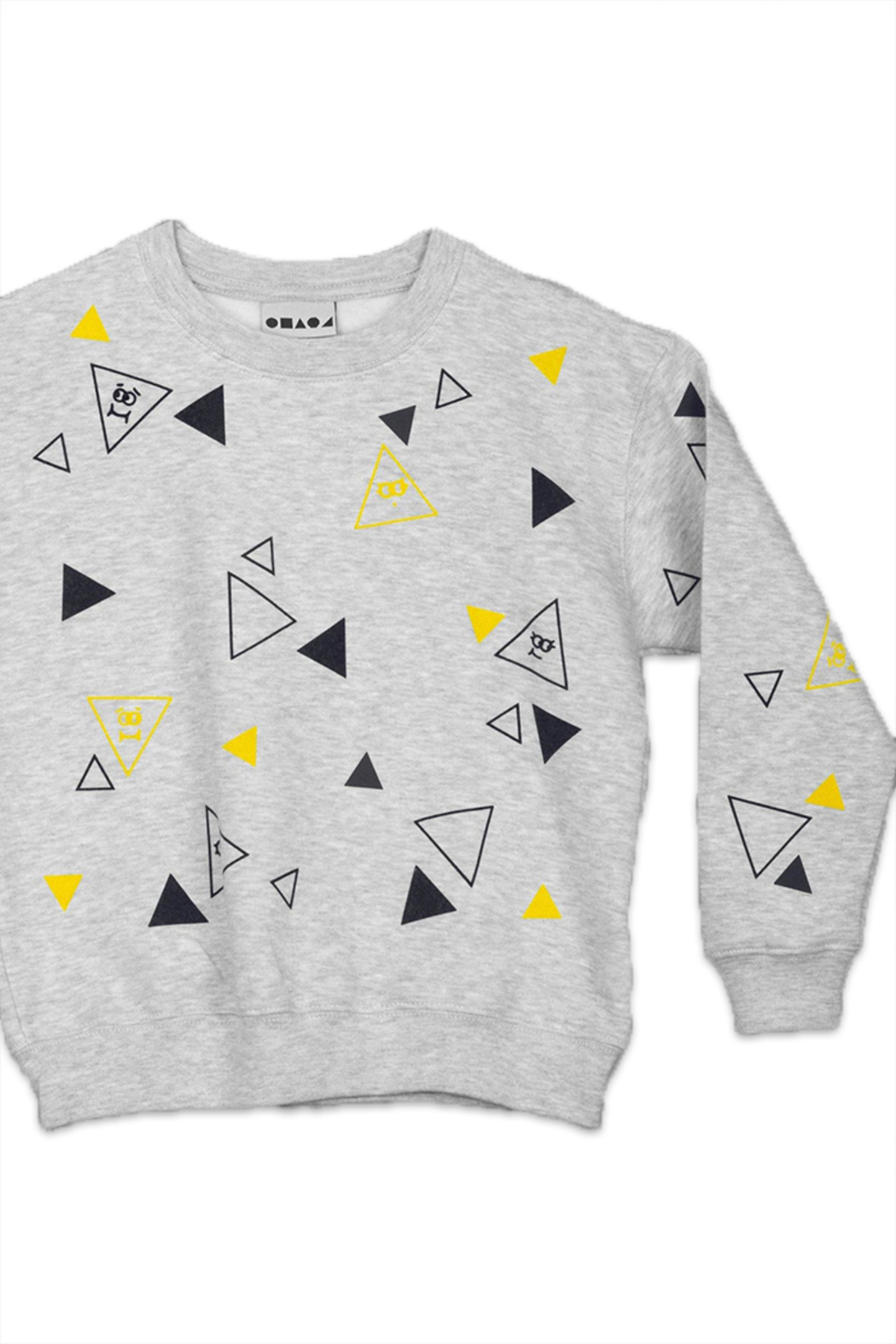 Shapes Of Things Polka Triangle Sweatshirt - Front Cropped Image