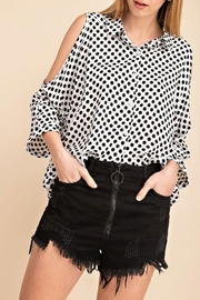 Mittoshop Polkadot Cold Shoulder - Front full body