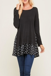 Miss Darlin Polkadot Contrast Top - Product Mini Image