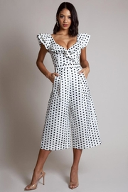 Latiste Polkadot Jumpsuit - Front cropped