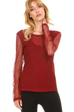 Shoptiques Product: Polkadot Mesh Top