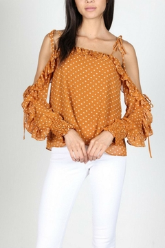 essue Polkadot Offshoulder Top - Product List Image