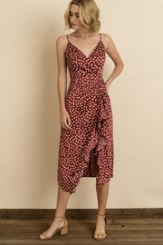 dress forum Polkadot Ruched Midi-Dress - Product Mini Image