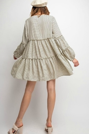 easel Polkadot Tiered Dress - Side cropped