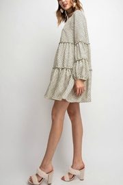 easel Polkadot Tiered Dress - Front full body