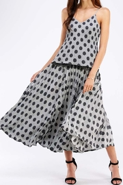 Mustard Seed Polkadot Wide Skirt - Product Mini Image
