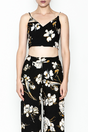 Polly & Esther Black Crop Top - Front full body