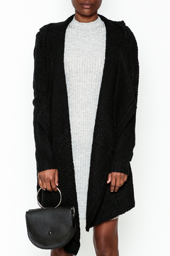 Shoptiques Product: Black Hooded Sweater