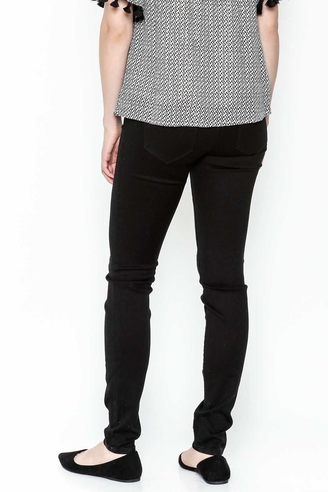 Polly & Esther Black Jeans - Back Cropped Image