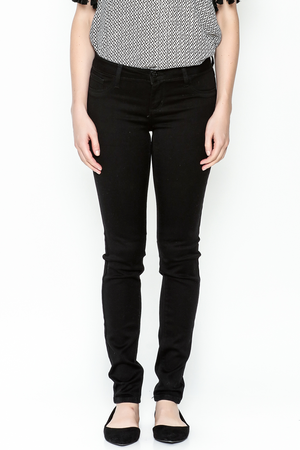 Polly & Esther Black Jeans - Front Full Image