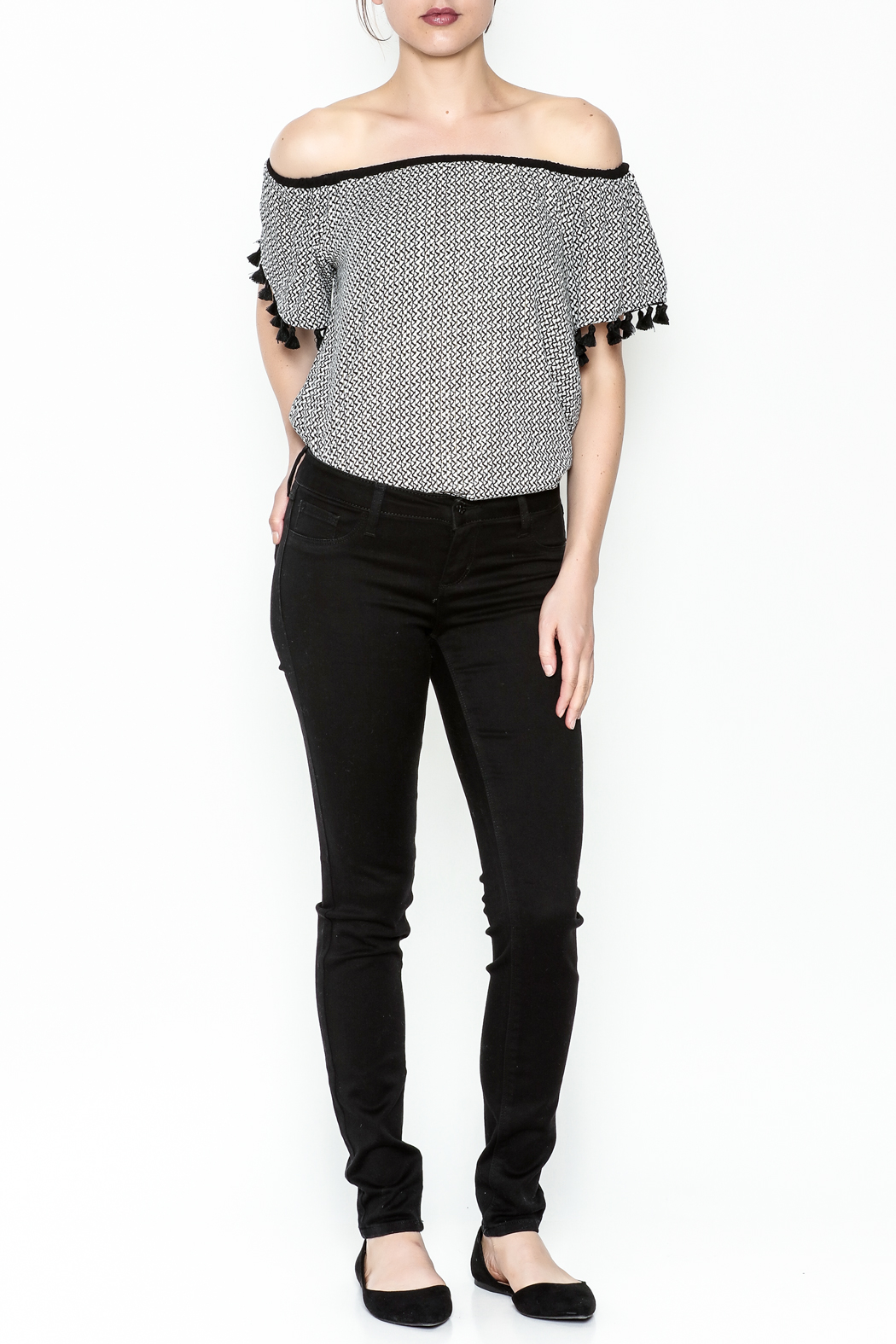 Polly & Esther Black Jeans - Side Cropped Image