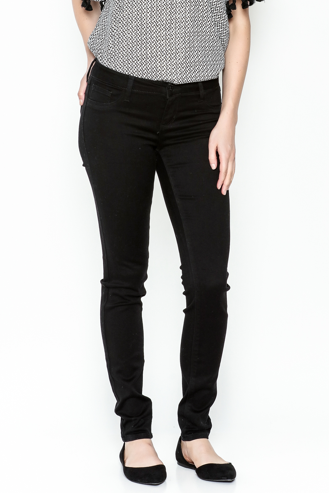 Polly & Esther Black Jeans - Main Image
