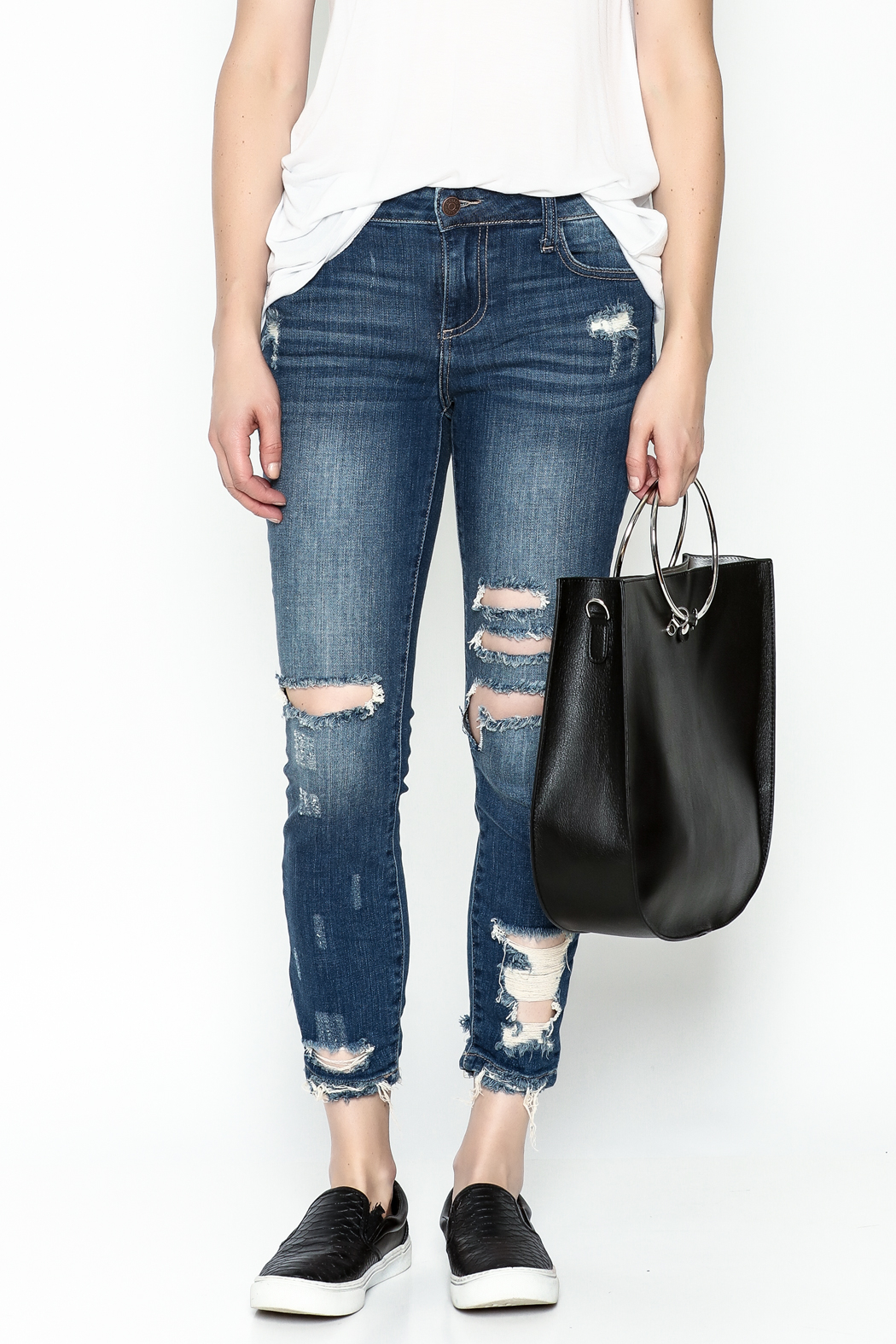 Polly & Esther Denim Jeans - Front Full Image