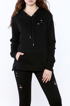 Shoptiques Product: Distressed Street Hooded Sweater