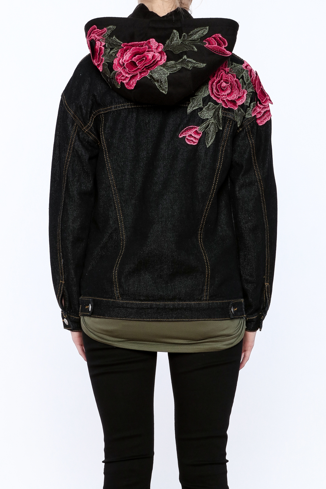 Polly Amp Esther Floral Embroidered Hooded Jacket From