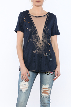 Shoptiques Product: Graphic Mesh Top
