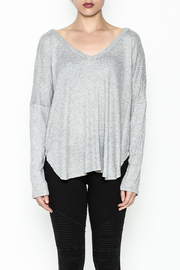 Polly & Esther Lilac Sweater - Front full body