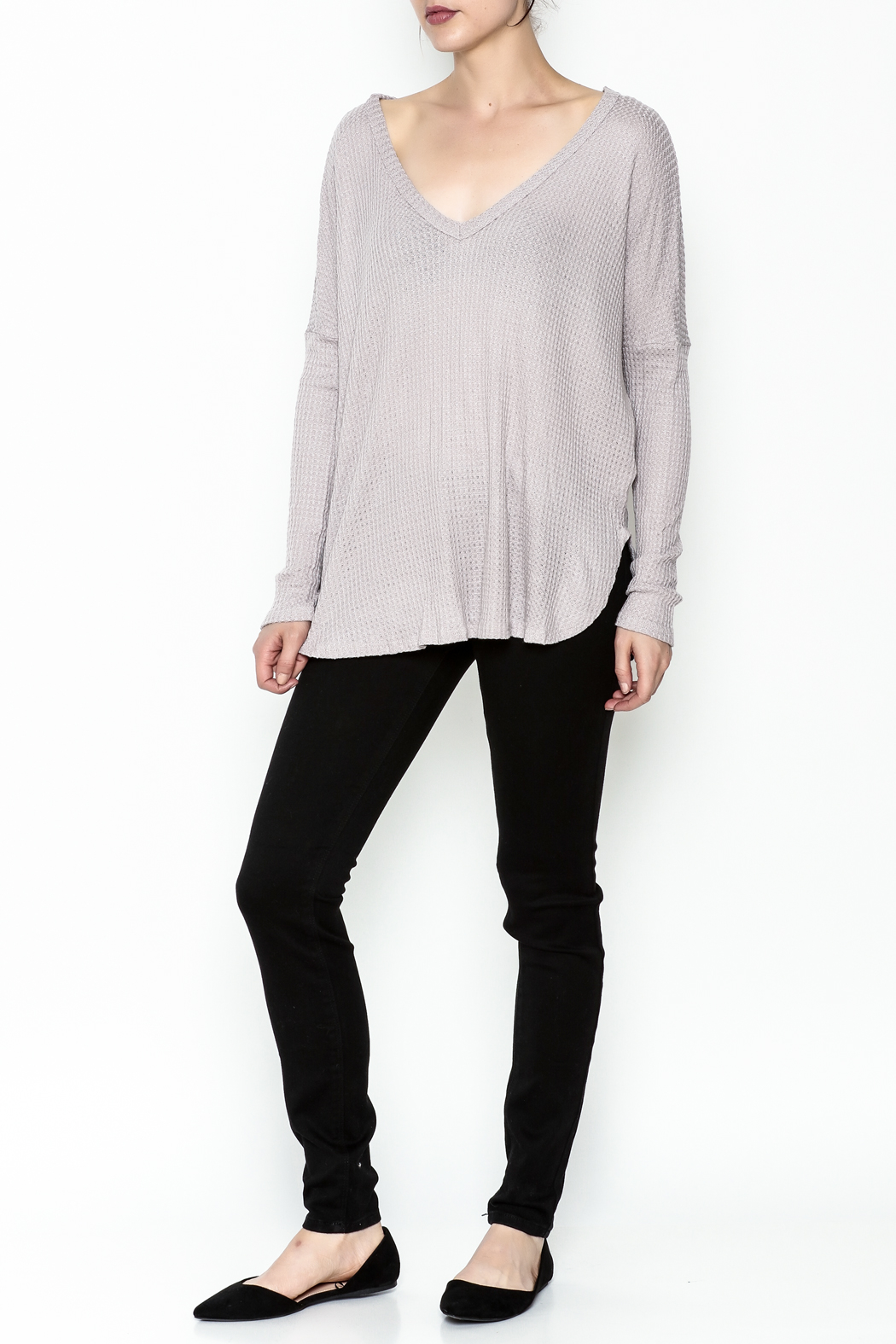 Polly & Esther Lilac Sweater - Side Cropped Image