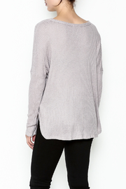 Polly & Esther Lilac Sweater - Back cropped