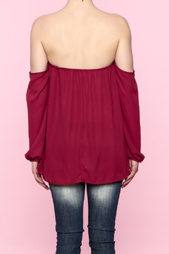 Shoptiques Product: Long Sleeve Off-Shoulder Top