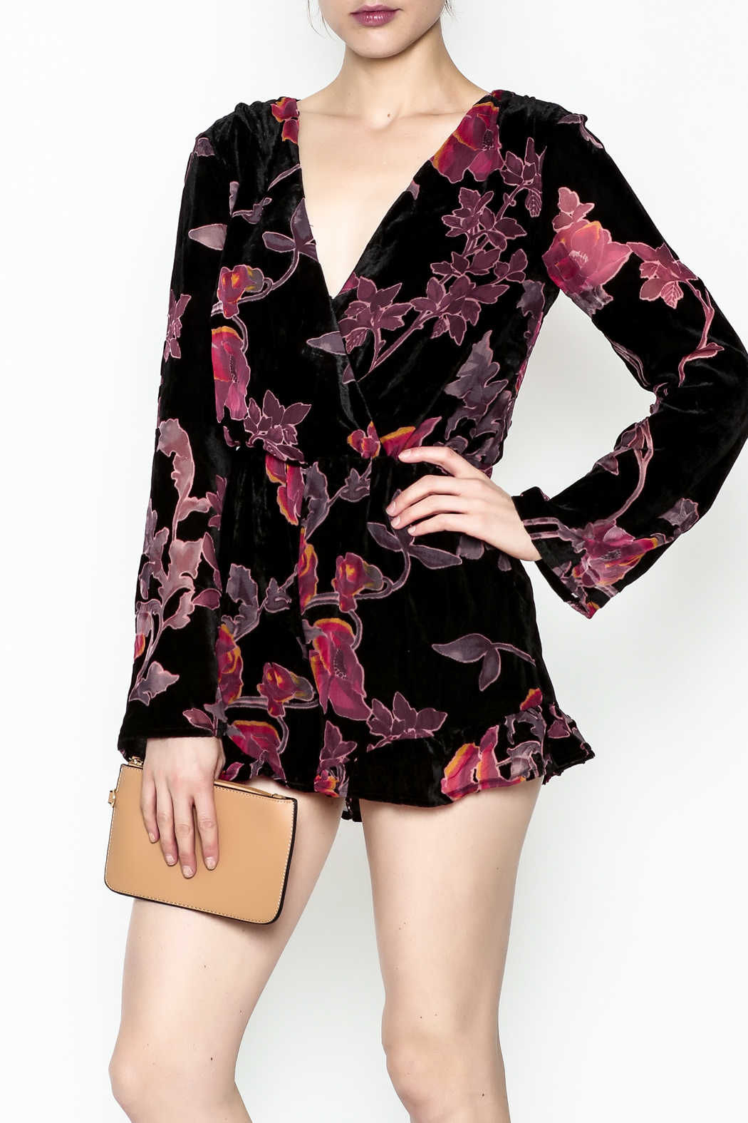 Polly & Esther Long Sleeve Romper - Main Image