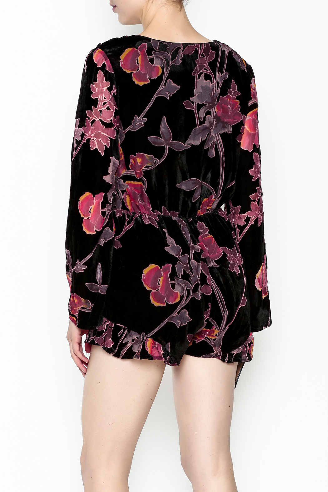 Polly & Esther Long Sleeve Romper - Back Cropped Image