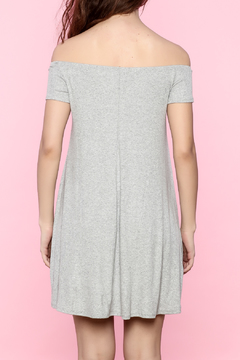 Shoptiques Product: Gray Off-Shoulder Dress