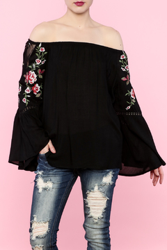 Shoptiques Product: Off-Shoulder Embroidered Top