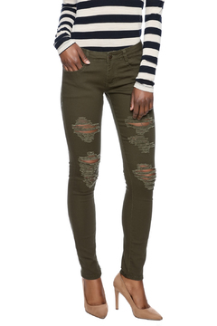 Shoptiques Product: Olive Ripped Jeans