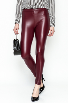 Polly & Esther Pleather Leggings - Product List Image