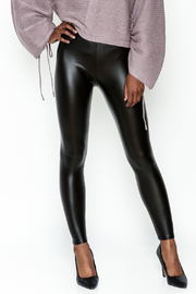 Polly & Esther Pleather Leggings - Front cropped