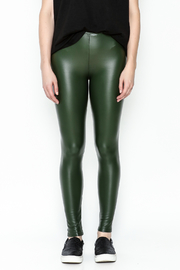 Polly & Esther Pleather Leggings - Front full body